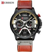 Curren Mens Watches Top Brand Luxury Leather Chronograph Watch Men's Wristwatche - $39.90