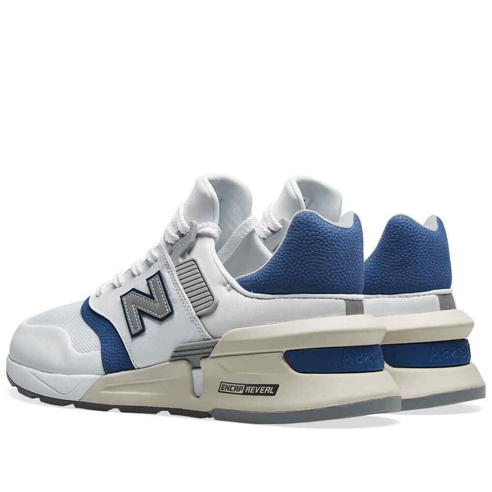 New Balance 997 Mens Trainers White/Blue Sneakers image 3