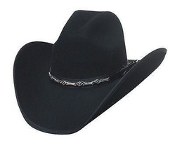 Bullhide 8X Fur Blend Black Cowboy Hat - BIG SHOT - Shooter Crown - Boun... - $90.00