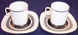 2 Block Langenthal Switzerland Transition Interaction Flat Cup & Saucer ... - £15.36 GBP
