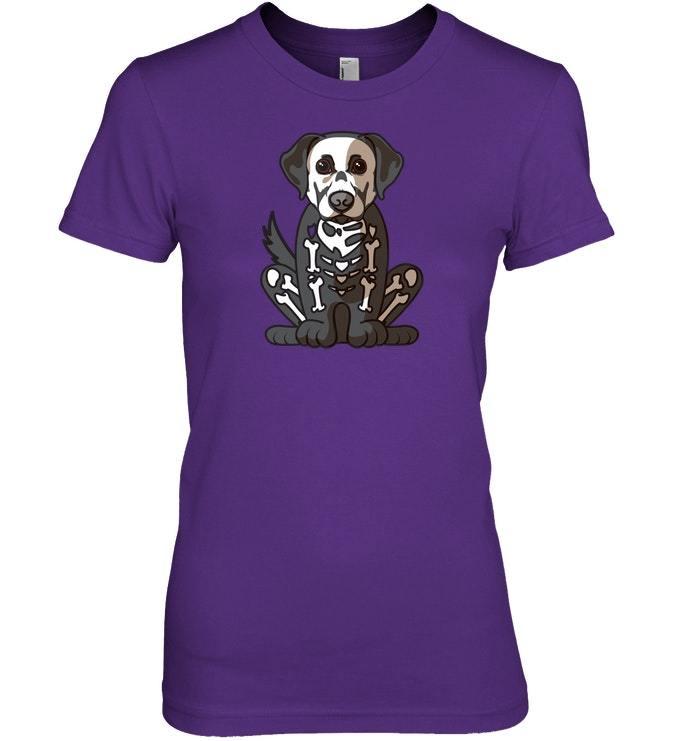 Funny Labrador Halloween Costume   Dog Bone Dad Tshirt