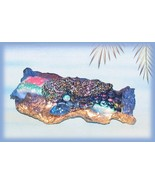 Artisan Hand Crafted Hair Barrette Multi-colored Blue Black  - $29.99