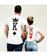 Coup Printing Summer T shirts King Queen Women Men Short Sleeve Poker Lo... - $17.16