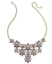 "Charter Club Gold-Tone Crystal Statement Necklace, 17""+ 2"" EXT - $19.59"