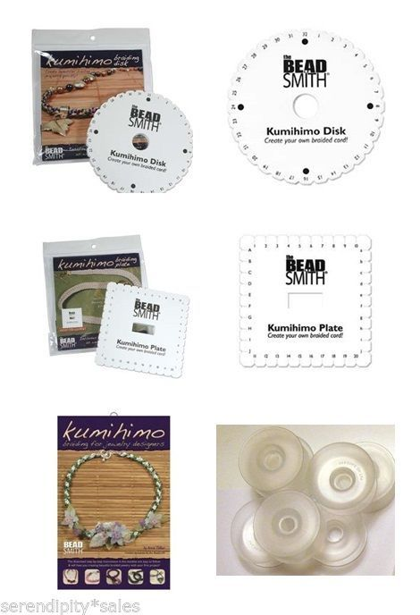 Kumihimo Supplies U Pick Item: Round Disc / Square Disk Plate, Bobbins, Booklet - $7.03 - $25.70