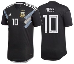 ADIDAS LIONEL MESSI ARGENTINA AUTHENTIC MATCH AWAY JERSEY WORLD CUP 2018. - £167.86 GBP+
