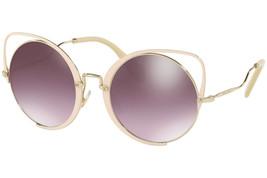 Miu Miu Sqenique Glitter Peach Violet Pink Mirror Oversized Sunglass MU51TS - $176.42