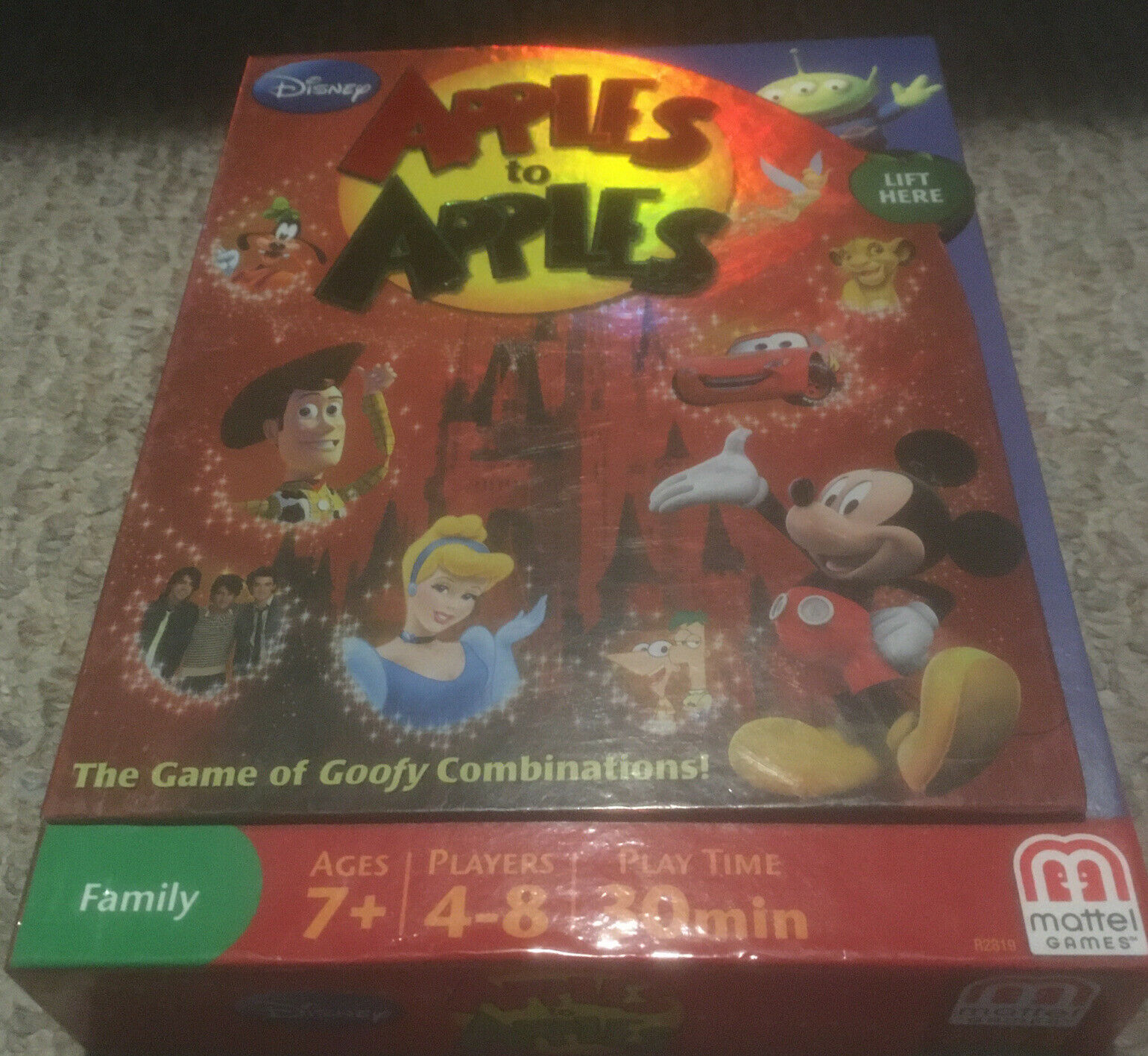 Primary image for Apples To Apples Disney Edition Family Game Mattel 2009 with Instructions EUC