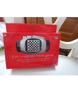5 in 1 magnetic travel game - chess, checkers, solitaire, tic-tac-toe an... - $10.50