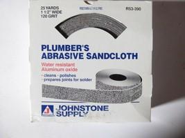 "Johnstone Supply R53-930 Plumber's Abrasive Sandcloth 25yds 1 1/2"" 120 Grit New image 2"