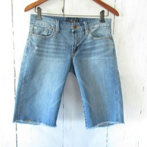 Lucky Brand Jeans 4 27 Boardwalk Bermuda Shorts Distressed Frayed Raw Hem - $27.83