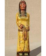 6' CIGAR STORE INDIAN CORN MAIDEN, 6 FT Frank Gallagher Sculpture, Yello... - $1,559.00