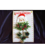 Santa Hanging Door Ringer Hard Plastic Vintage 1960s  - $42.00