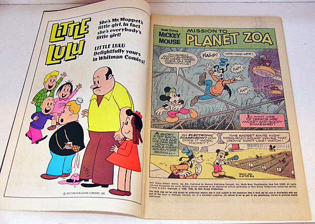 Mickey Mouse Comic Book No 215 Planet Zoa 1980 VG