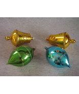Vintage Stenciled Mica Glass Christmas Ornament... - $32.00