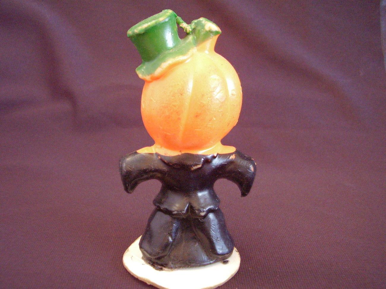 Gurley Jack O' Lantern Pumpkin Man Halloween Candle