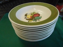 """Great POPPY TRAIL by Metlox """"Provincial Fruit"""" ..Set of 10 SOUP BOWLS  8... - $39.19"""