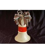 Vintage Mica Hanging Christmas Bell Decoration - $30.00