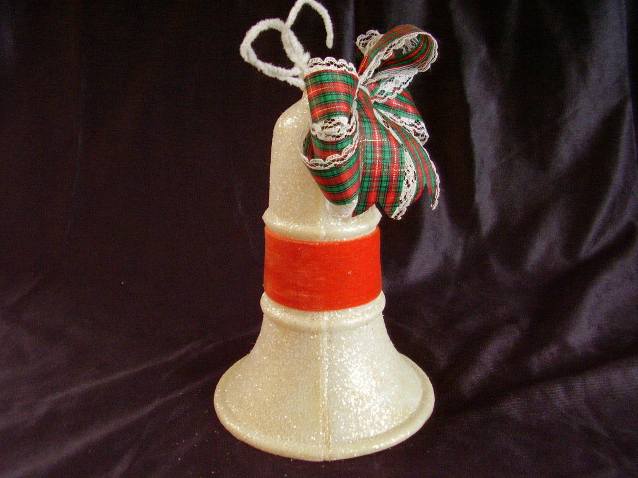 Vintage Mica Hanging Christmas Bell Decoration