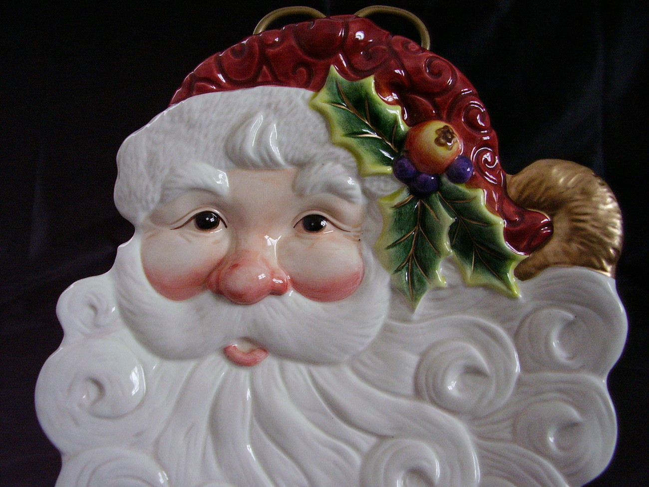 Fitz Floyd Essentials Santa Serving Cookie Plate