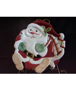Fitz Floyd Essentials Santa Cookie Canape Serving Plate - $32.00