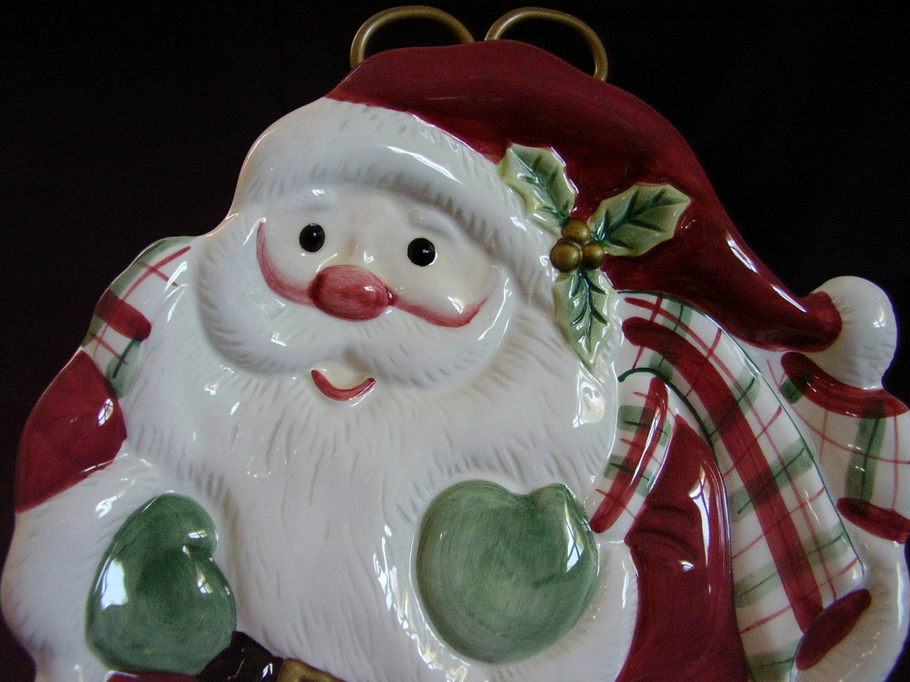 Fitz Floyd Essentials Santa Cookie Canape Serving Plate