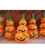 Decorative Halloween Stacked Pumpkin Mini Light String Stran - $26.00