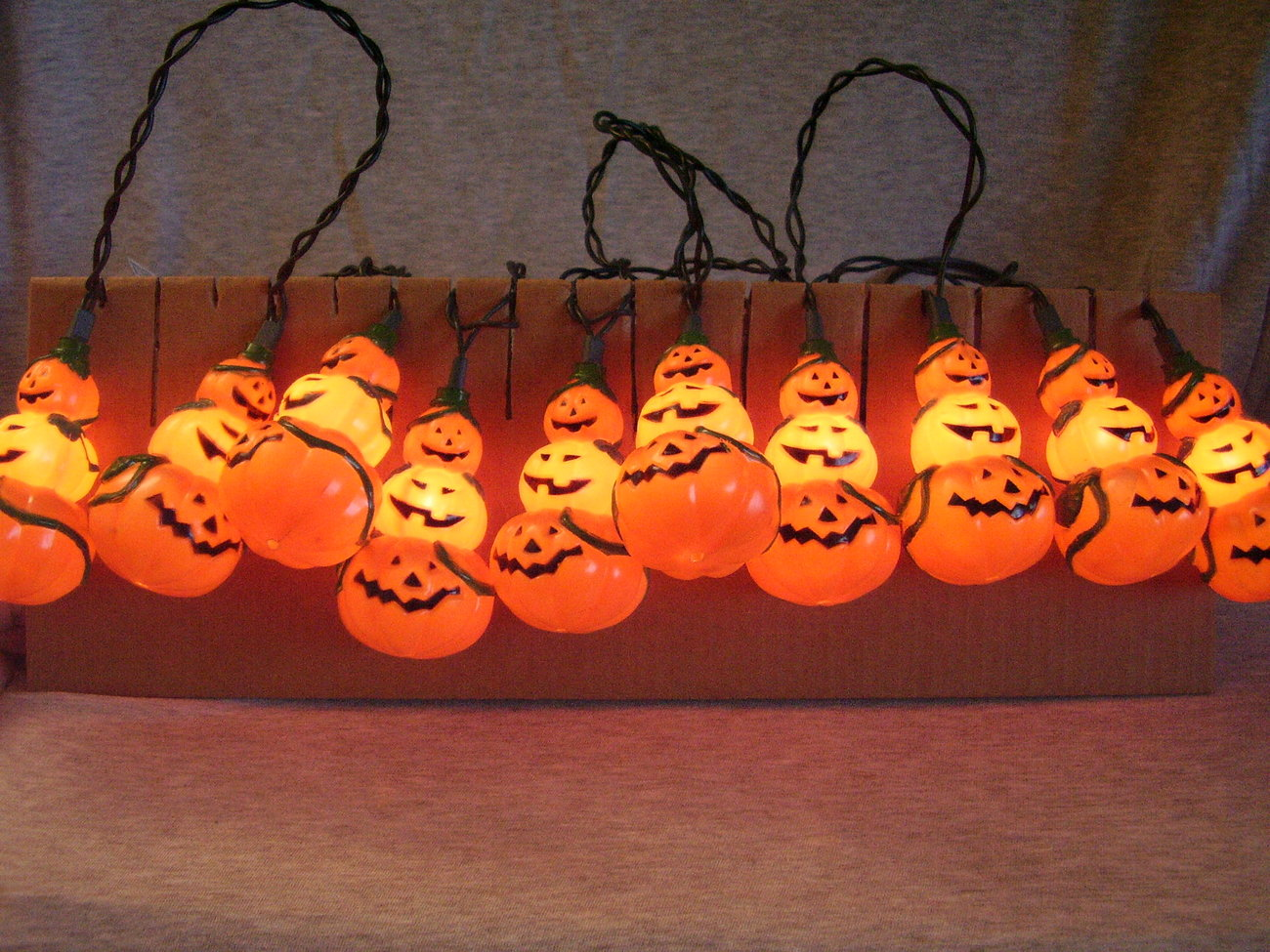 Decorative Halloween Stacked Pumpkin Mini Light String Stran