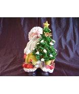 Collectible Santa Decorated Christmas Tree Resi... - $31.00