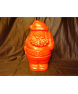 Collectible Santa Blow Mold Refillable Container Candy Jar - $28.00
