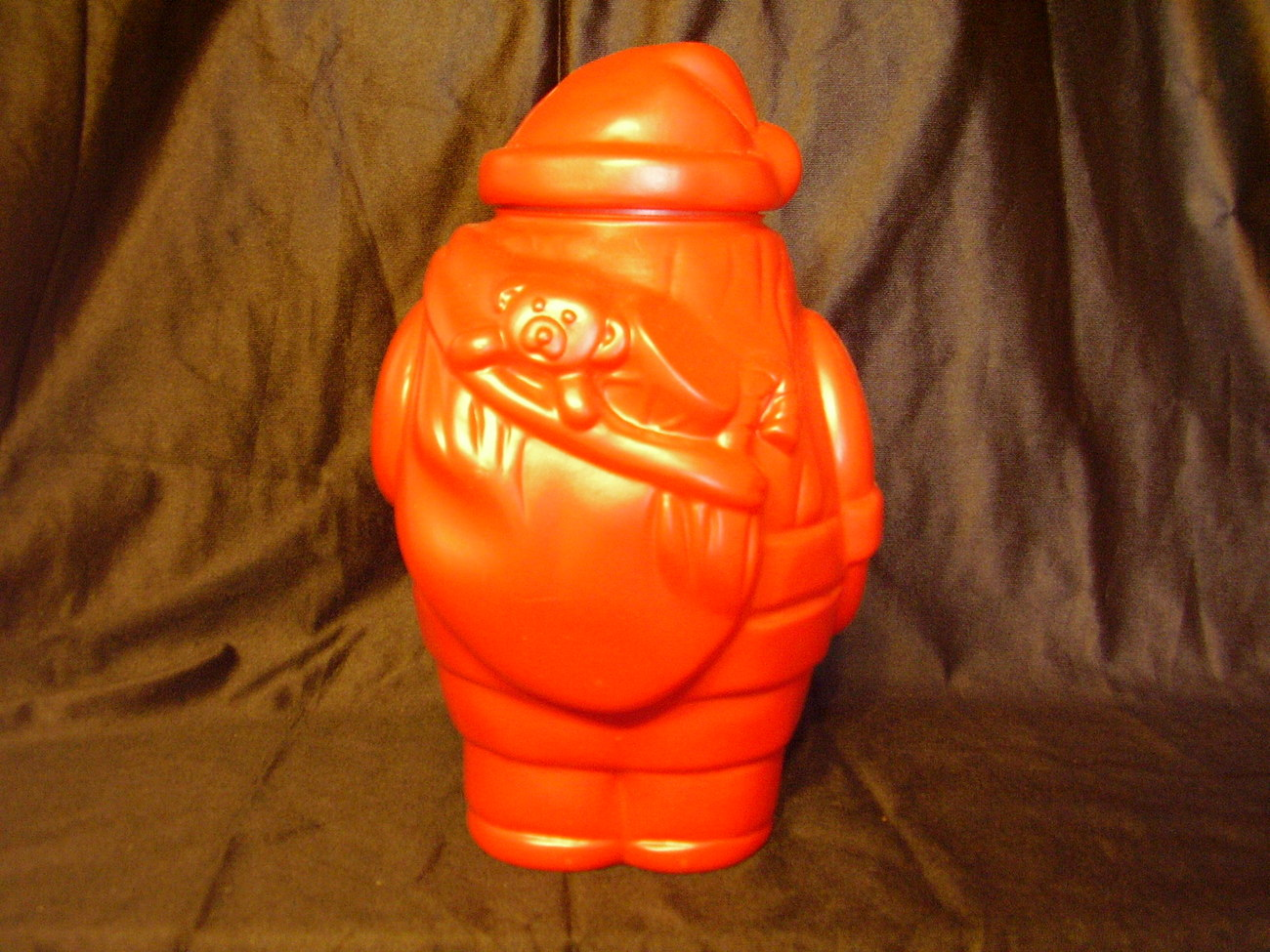 Collectible Santa Blow Mold Refillable Container Candy Jar