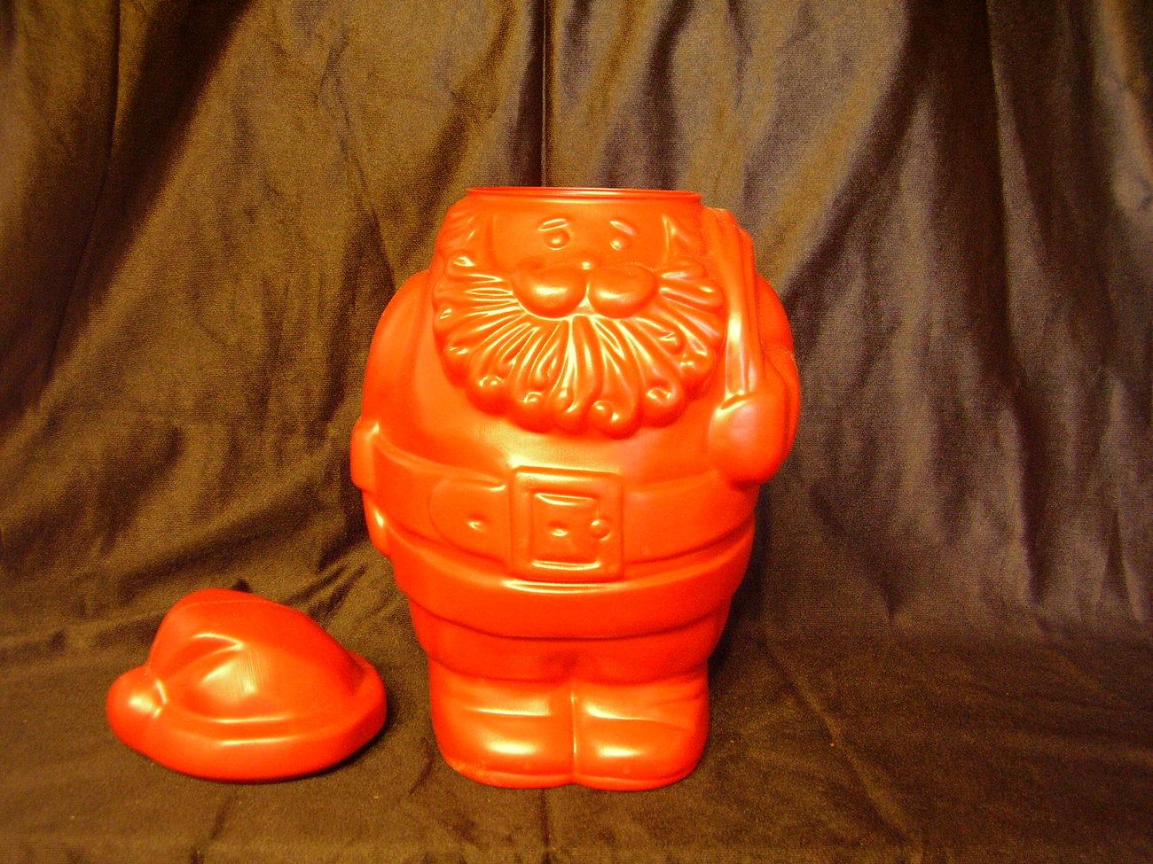 Collectible Santa Blow Mold Refillable Container Candy Jar