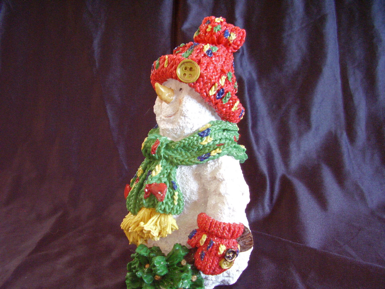 Collectible Christmas Resin Snowman Statue