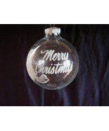 Bronner Christmas Ornament Hungary Stenciled Glitter Clear - $16.00