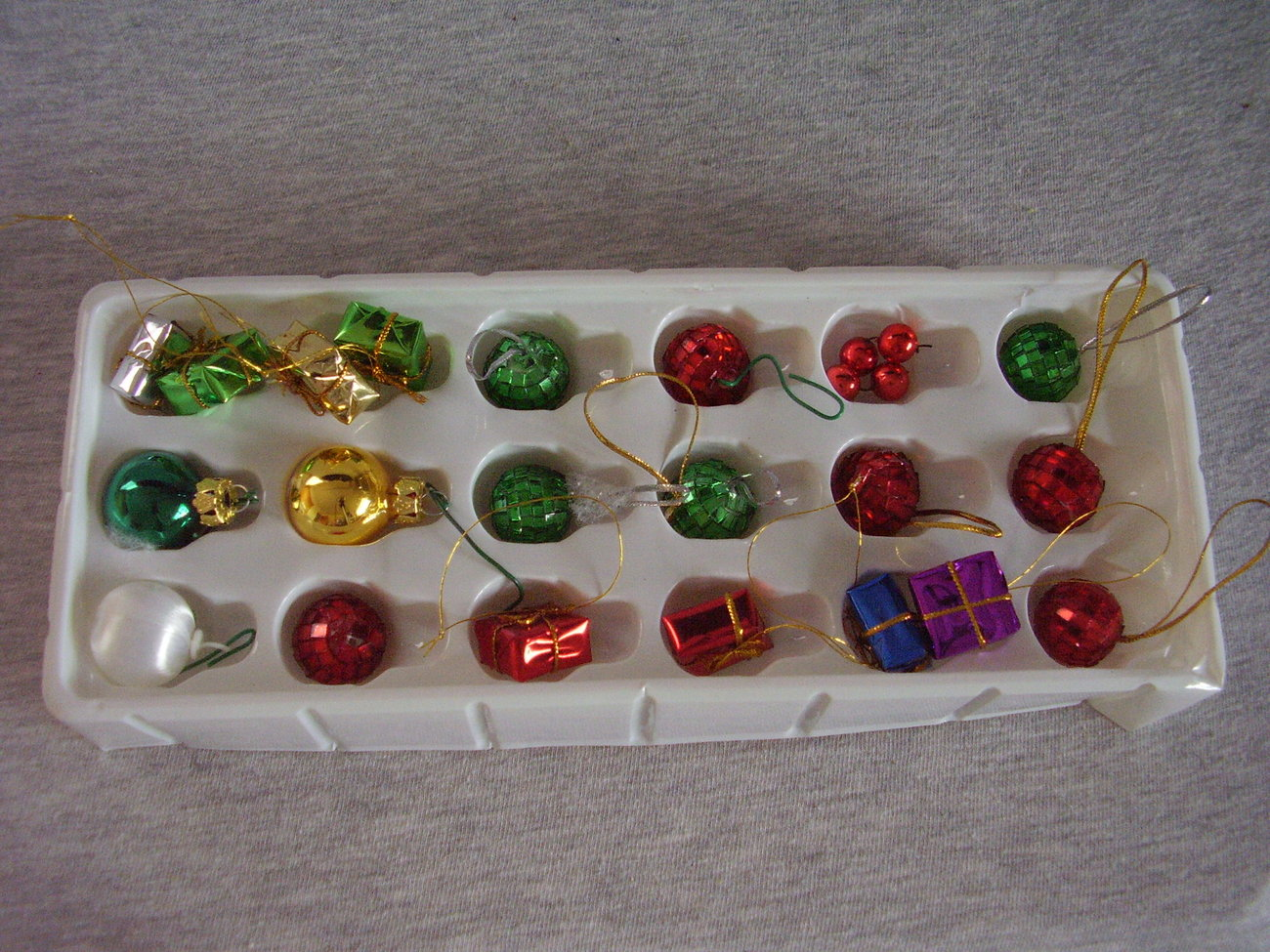 Miniature Christmas Tree Ornaments Lot of 21 Assorted