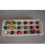 Miniature Christmas Tree Ornaments Lot of 21 Assorted - $21.00