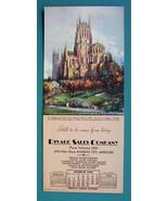 INK BLOTTER AD 1938 - Rivard Sales Co. Kansas City MO & St. John Church ... - $4.49