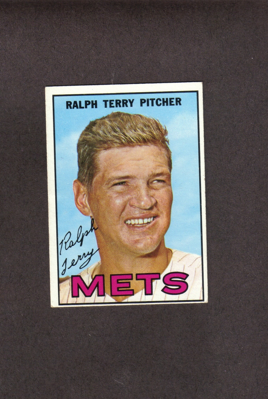 1967 Topps # 59 Ralph Terry New York Mets
