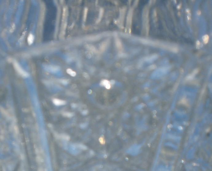 Vintage Depression glass with medallion flower, bead work, 1940's, anticque