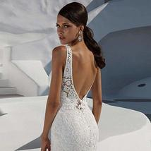 Women's Mermaid Lace Wedding Dresses White Bridal Gowns image 1