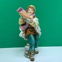 Thomas Kinkade porcelain figurine vintage statue song joy musician sculpture vtg - $62.68