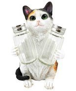 American Favorite Pet Playful Calico Cute Kitty Cat Figurine Salt Pepper... - €17,55 EUR