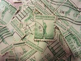US postage stamp lot Statue of Liberty WWII 1940 CV $20.00 Scott 899 - 1... - $2.99