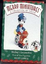 1 X Mickeys Locomotive Figurine From the Mickeys Express - 1998 Mickey & Co. Mer - $8.99