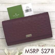 NEW Kate Spade Alexander Avenue Phoenix Burgundy Leather Trifold Wallet wlru4188 - $99.00