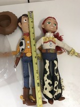 "Disney Toy Story Figures Talking Woody and Jessie Pull String Dolls 15"" ... - $49.45"