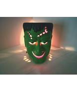 "Frankenstein Head 6"" Clay Candle Holder Metal Bolts on Neck Votive Tea L... - $38.11"