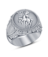 Sagittarius Zodiac Ring Round Cut Diamond White Gold Plated 925 Sterling... - £70.31 GBP