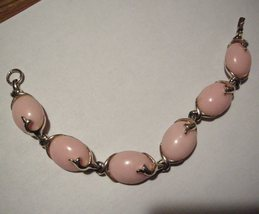 Gold Plate Dolphin Pink  Bracelet oldie - $5.95