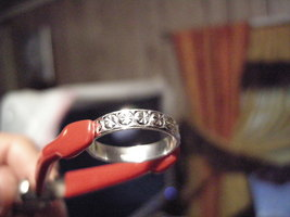 Sterling Silver all Stars New Band Ring - $7.95
